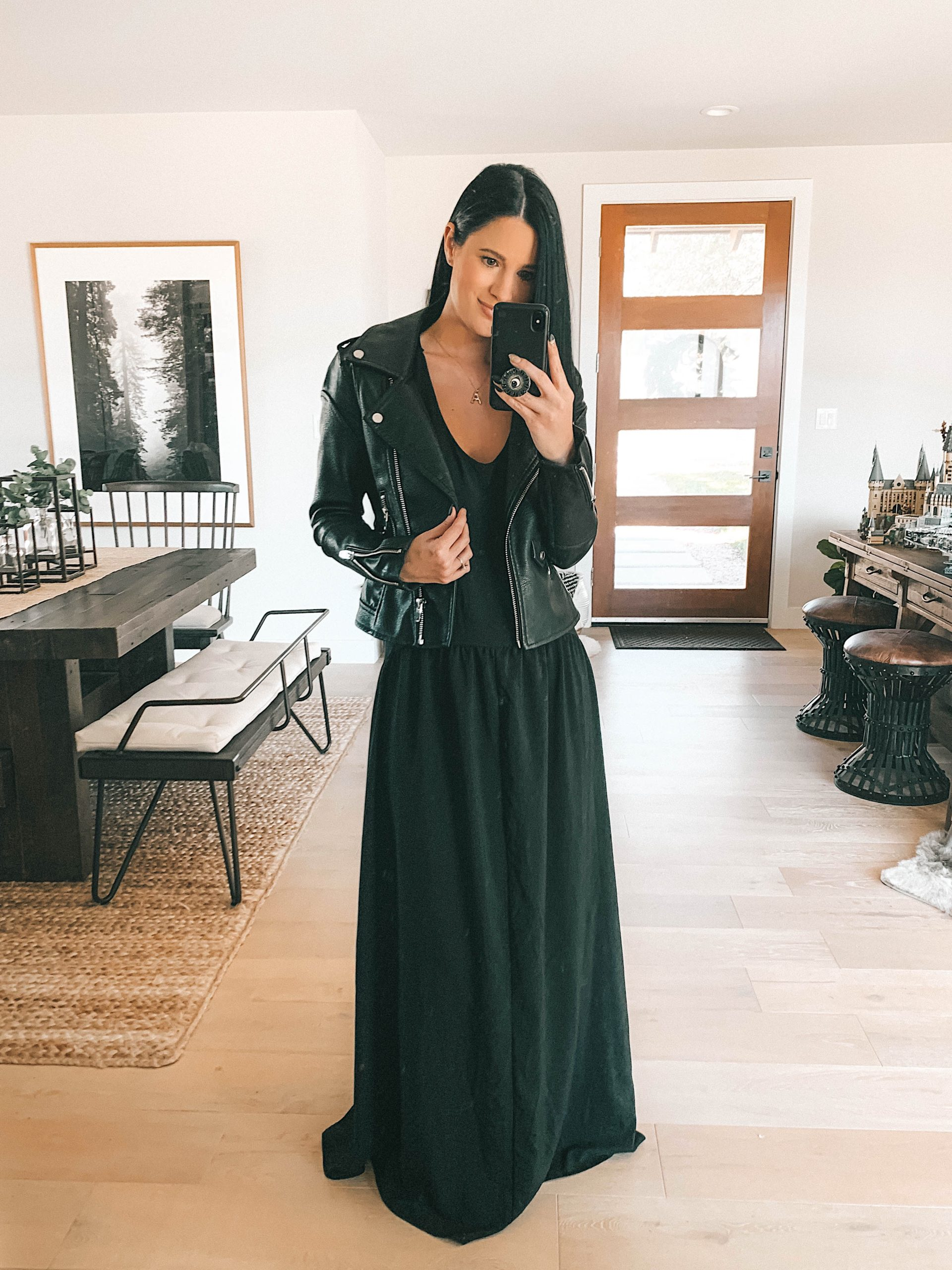 Lovestitch Spring Try On by popular Austin fashion blog, Dressed to Kill: image of a woman wearing a Lovestitch ASTRID RACERBACK MAXI DRESS.