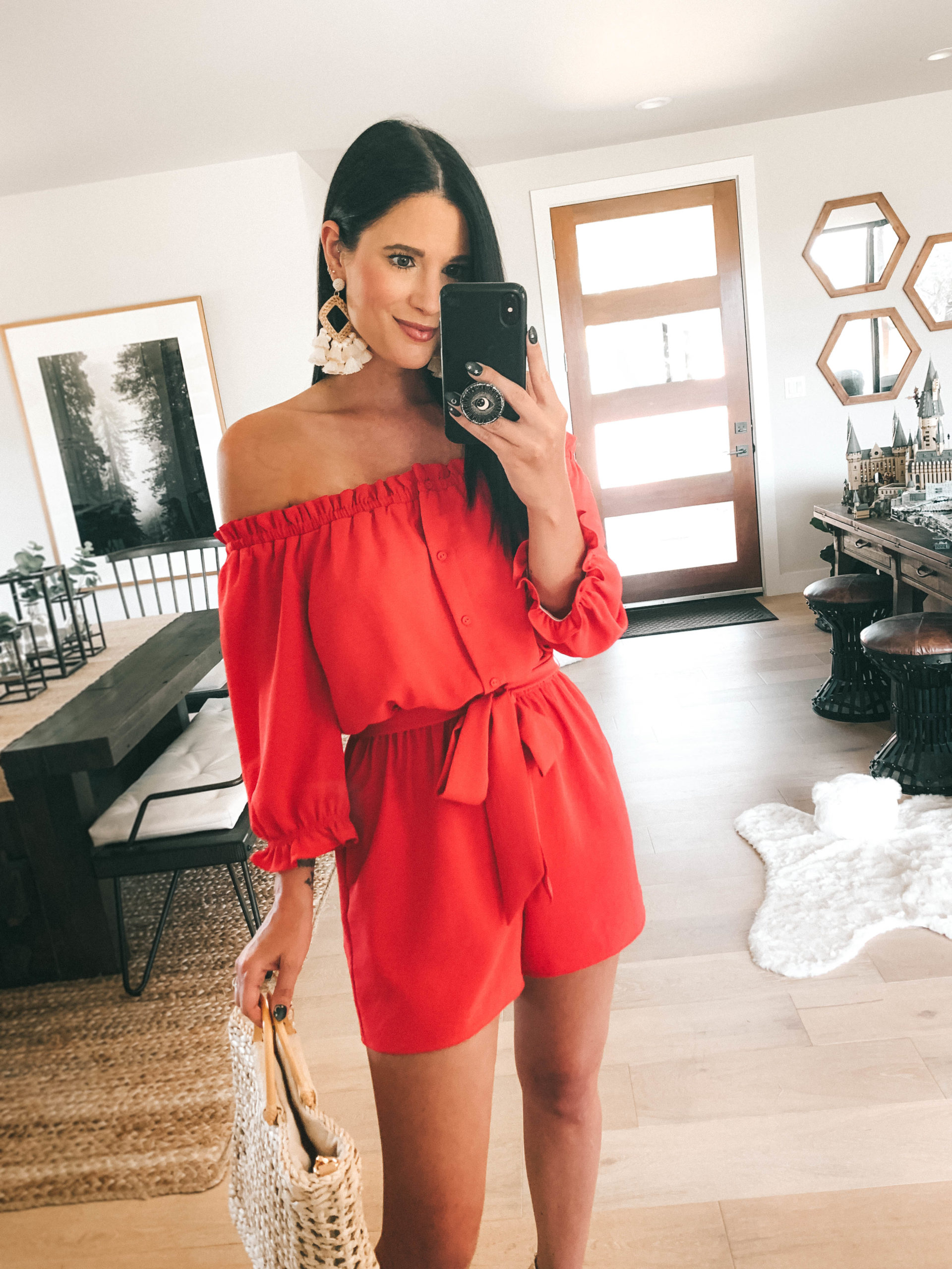 Gibson Look Road Trip by popular Austin fashion blog, Dressed to Kill: image of a woman wearing a Gibson Look silky crepe romper.