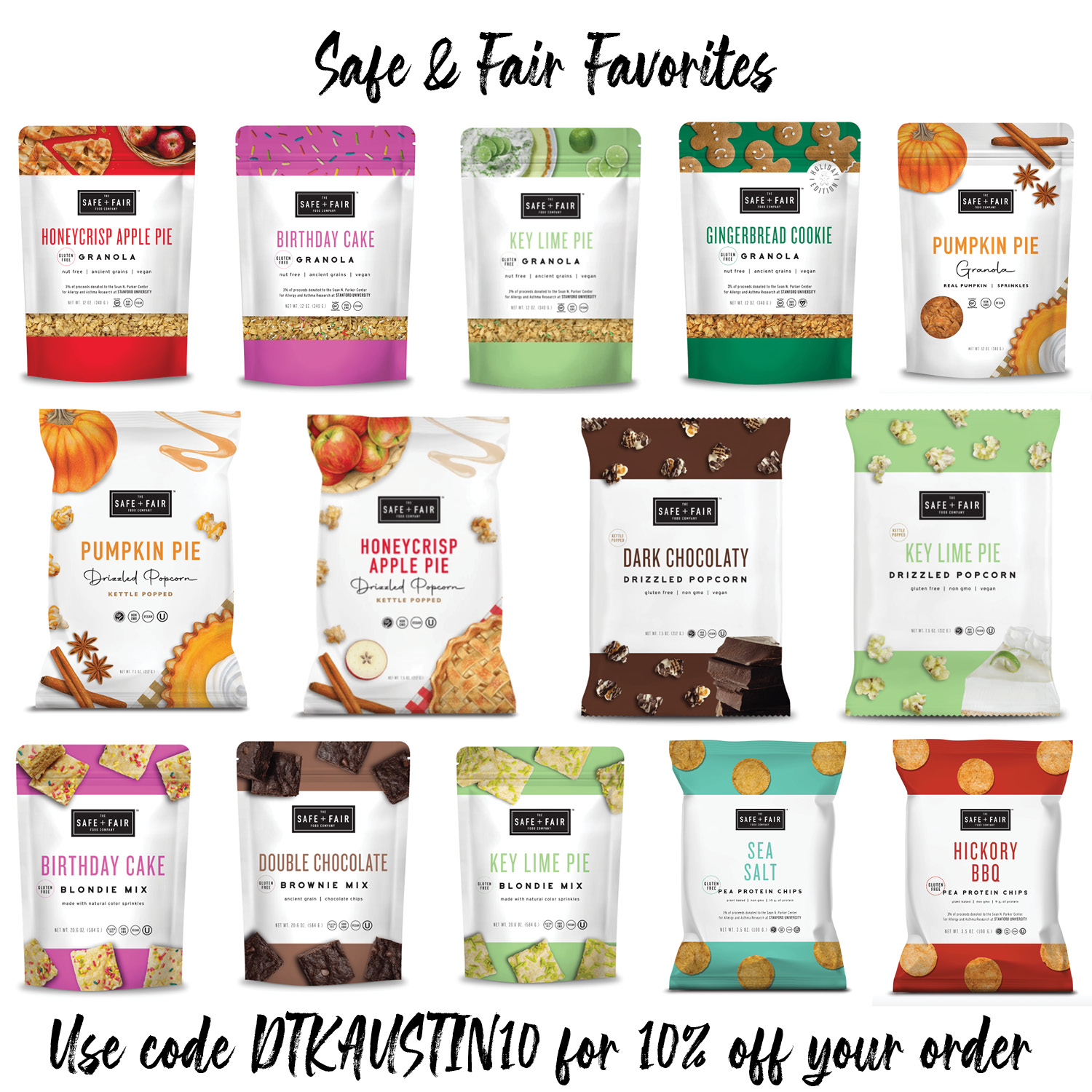 Holiday Gift Ideas by popular Austin life and style blog, Dressed to Kill: image of Safe + Fair food.